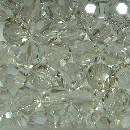 Schliffperlen rund crystal Silvershade