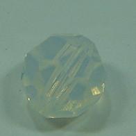 Schliffperle rund White Opal