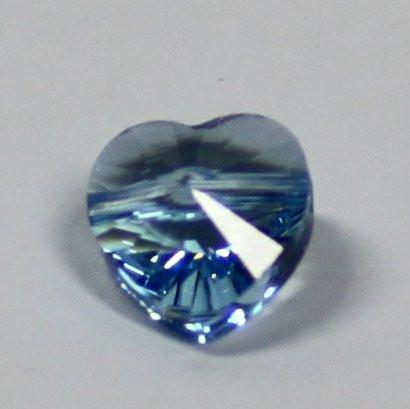 Herzschliffperle aquamarine
