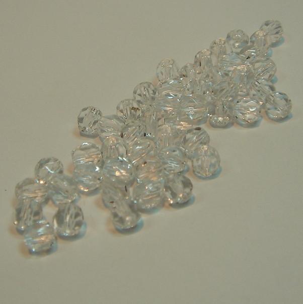 Glasschliffperlen kristall klar