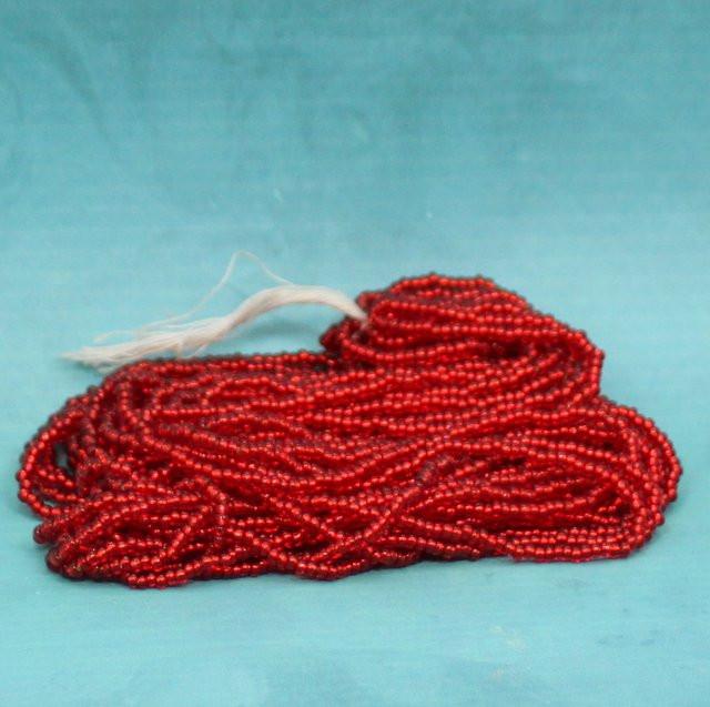 Rocaille rot Silbereinzug