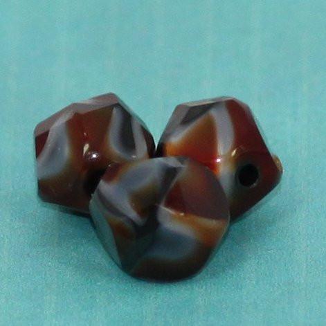 Glasschliffperlen mehrfarbig opak durchzogen