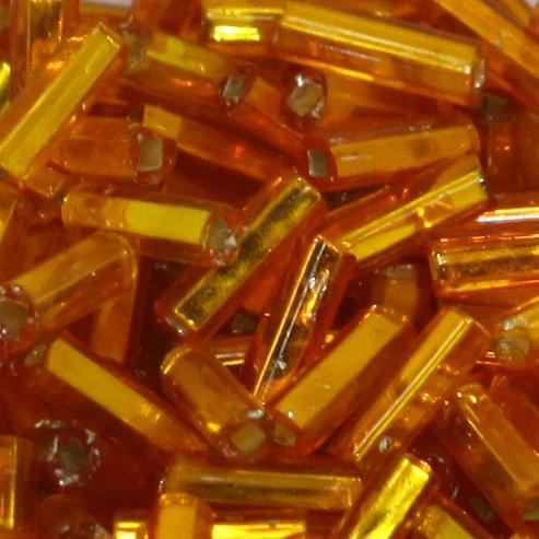 Glasstifte orange mit Silbereinzug