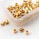 Quetschröhrchen Echt Silber vergoldet