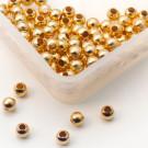 Quetschkugeln Silber vergoldet