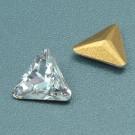 Dreieck crystal mit Rückseite