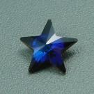 Kristallstern crystal Bermuda Blue