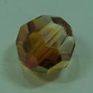 Schliffperle rund crystal Copper