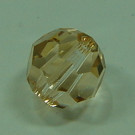 Schliffperle rund crystal Golden Shadow