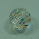 Schliffperle rund crystal AB