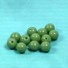 Rundperlen sattgrün hell