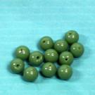 Rundperlen sattgrün opak