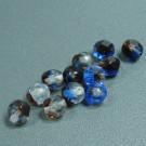 Glasschliffperlen kristall blau-rot durchzogen