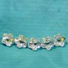 Blumenperlen 6mm crystal AB