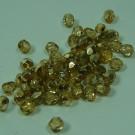 Glasschliffperlen colorado topas halb gold