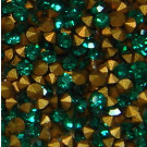 Strass-Steine emerald gold-foiled