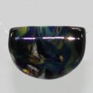 Fokusperle schwarz mehrfarbig durchzogen