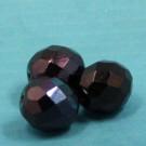 Glasschliffperlen Metallicblau