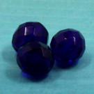 Glasschliffperlen ultramarinblau