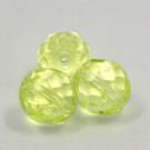 Glasschliffperlen zitrusgelb