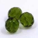 Glasschliffperlen olive