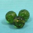 Glasschliffperlen olivgrün