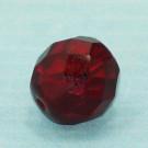 Glasschliffperle rubinrot
