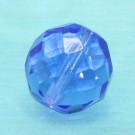 Glasschliffperle safirblau