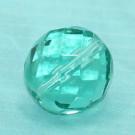 Glasschliffperle blaugrün
