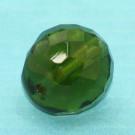 Glasschliffperle dunkles olivgrün