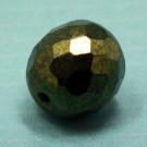 Glasschliffperle metallicgrün