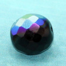 Glasschliffperle schwarz halb schillernd