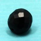 Glasschliffperle schwarz