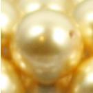 Wachsperlen gold