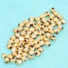 Glasschliffperlen kantige Form Goldglanz