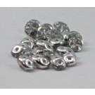 SuperDuo 2-Lochperlen halb Silber
