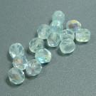 Glasschliffperlen azorenblau AB