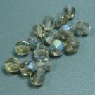 Glasschliffperlen grau AB