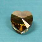 Herzschliffperle 10mm crystal Copper