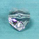 Herzschliffperle 10mm crystal
