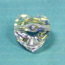 Herzschliffperle 10mm crystal AB