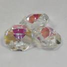 Glaskoppe 14mm 1Loch kristall halb schillernd