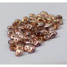 SuperDuo 2-Lochperlen halb Kupfer