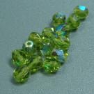 Glasschliffperlen oliv AB