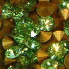 Strass-Steine peridot gold-foiled
