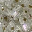Glasstifte 4kantig kristall mit Silbereinzug