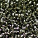 Minirocaille grau/Silbereinzug