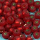 Rocaille matt rot mit Silbereinzug