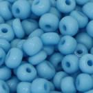 Rocaille opak hell aquamarin blau