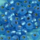 Rocaille matt safirblau mit Silbereinzug